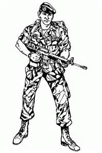 Soldier Drawing Outline by Army Soldier Drawing Outline Hairstylegalleries