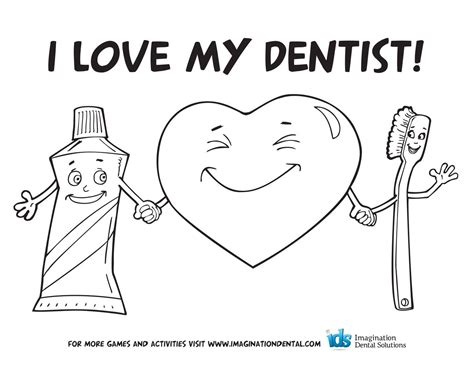 oral hygiene coloring sheets