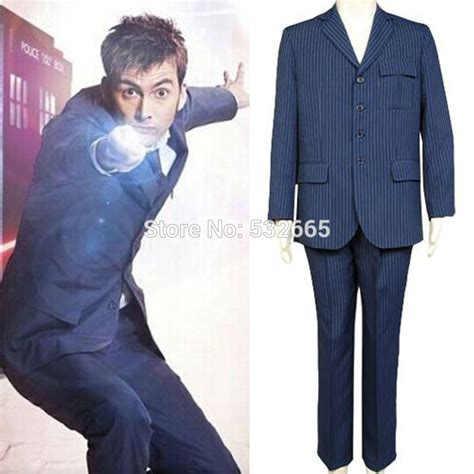 david tennant blue suit doctor who tenth 10th dr david tennant blue suit cosplay