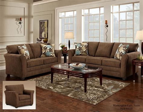 Council Furniture by Washington Furniture Council Fudge Casual Loveseat With