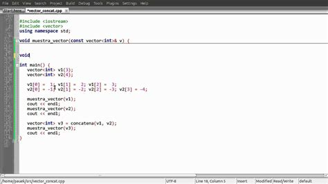 funcion concatenar cadenas en c vector concatenar youtube
