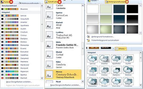 Powerpoint Design Vorlage Erstellen Powerpoint Masterfolien Farbeschemata Und Folienlayouts Pr 228 Sentations Design Selbst Erstellen