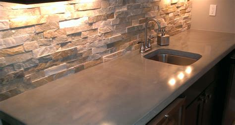 Light Colored Concrete Countertops by 7 Most Popular Types Of Kitchen Countertops Materials