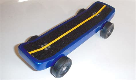 pinewood derby skateboard template this is my s skateboard car called quot blue