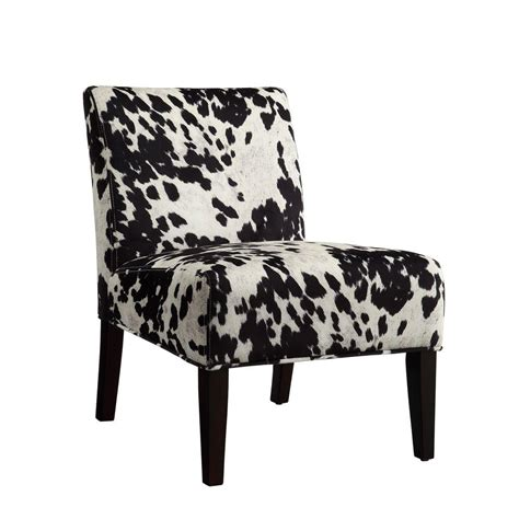 Cowhide Accent Chair homesullivan black cowhide print accent chair 40468f24s 3a the home depot