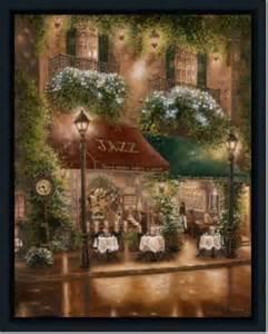 Dining Room Framed Art jazz street scene dining room decor ii art print framed ebay
