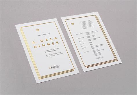 dinner invitations uk a gala dinner crescent lodge design