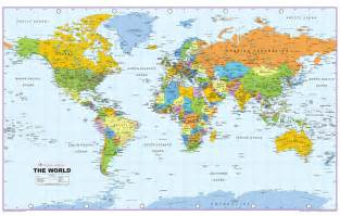 Big Map Of The World by Large World Maphd Wallpapers