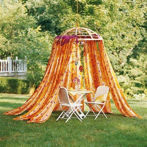 deko vorhang garten gartengestaltung leichte und m 228 rchenhafte deko ideen im