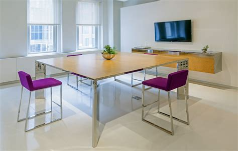 Square Conference Table Contemporary Conference Table Large Square Steel Ambience Dor 233