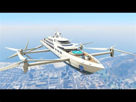 ultimate flying super yacht mod! (gta 5 mods funny moments