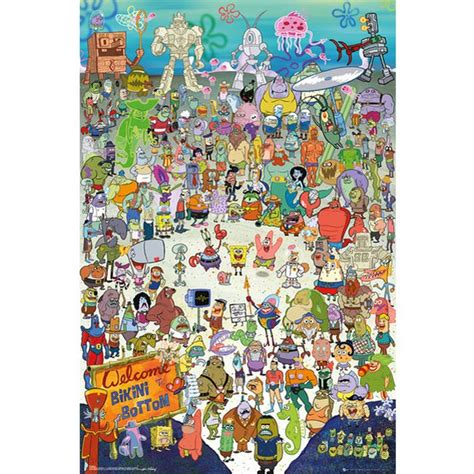Square Bon Jovi 2 Bk spongebob cast maxi poster 61 x 91 5cm my box