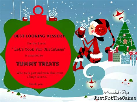 christmas awards just not the cakes awards for the event lets cook for