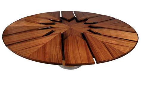 Round Expanding Dining Table 50 000 For Fletcher Capstan Table Automatically Expands