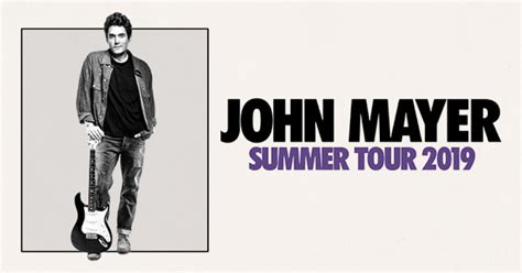 john mayer announces extensive  summer arena