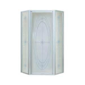 sterling neo angle shower door sterling intrigue 36 1 8 in x 72 in neo angle shower