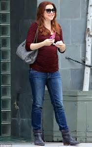 Pregnant alyson hannigan shops for maternity clothes in beverly hills