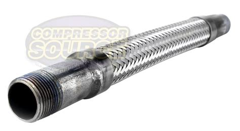 3 4 quot x 12 quot stainless steel compressed air line metal flex hose compressor 685650063416 ebay