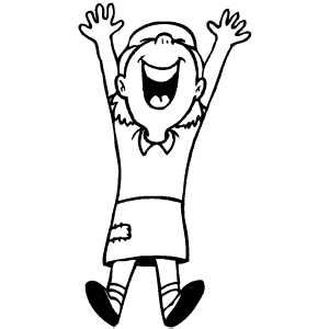 happy girl coloring page jumping happy girl coloring page