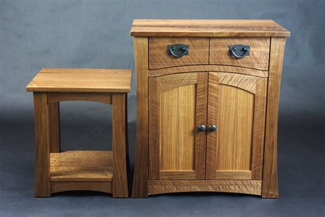 arts and crafts black walnut cabinets rugged cross