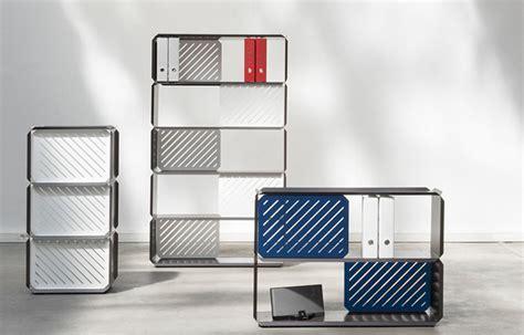 Modular Metal Shelving Modular Shelves Made Of Folded Sheet Steel Design Milk