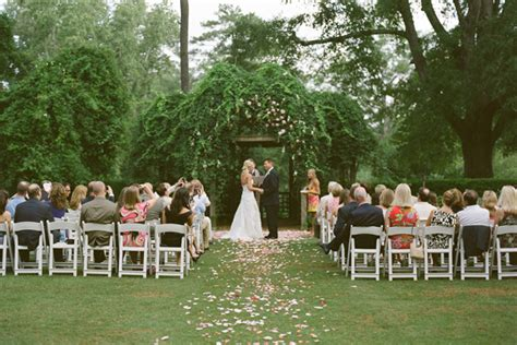 Home Lawn Decoration by Pretty Garden Wedding Once Wed
