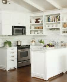Kitchens With Subway Tile Backsplash by White Subway Tile Backsplash Best Kitchen Places