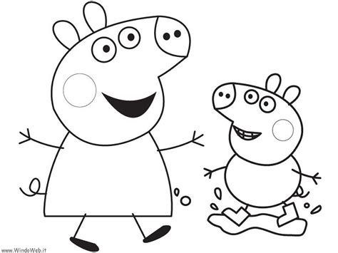 peppa pig swimming coloring page peppa pig swimming coloring page
