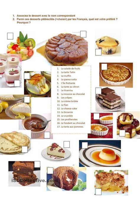 les fran軋is et la cuisine les desserts pr 233 f 233 r 233 s des fran 231 ais restaurant