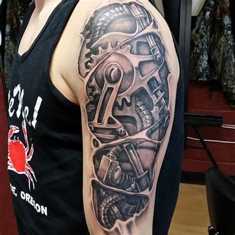 mechanical arm tattoo designs 25 best mechanical arm images on