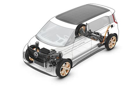 Electric Car One Motor Per Wheel Budd E Mpv Concept Is The To Use Volkswagen S All