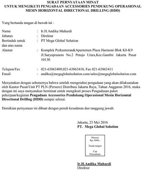 format surat pernyataan tanggungjawab pengguna anggaran mohipan co id