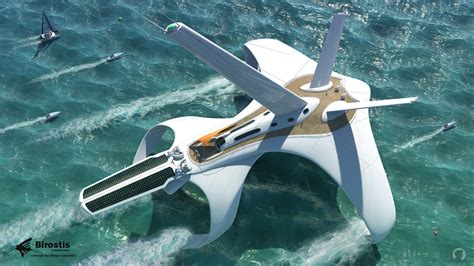 hydrofoil yacht design concept ships birostis hydrofoil clipper by diego
