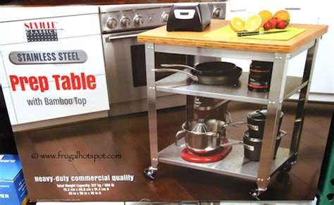 stainless steel prep table costco costco sale seville classics prep table with bamboo top