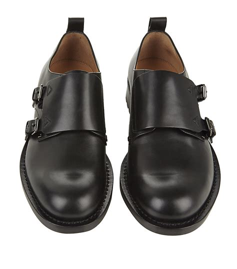 valentino monk shoe in black for lyst