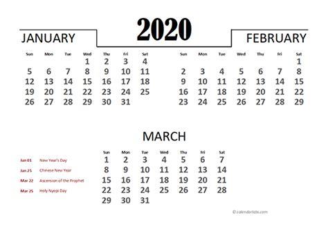 indonesia excel quarterly calendar  printable templates