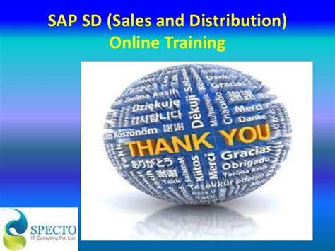 sap tutorial sales and distribution sap sd sales and distribution online training course in