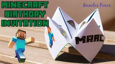 imagenes originales de minecraft minecraft birthday invitation invitaci 243 n de cumplea 241 os