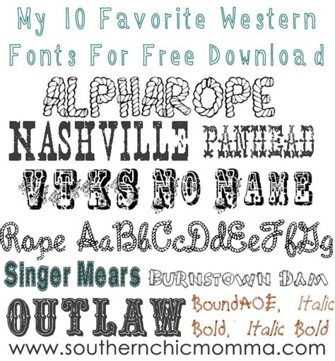 printable western fonts southern chic momma western wednesday free fonts