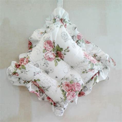 cuscini sedie cuscini per sedie con volant shabby roses casseri biancheria