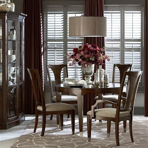 """Cosmopolitan Round Dining Table by Bassett 30""""H x 48""""W x"""
