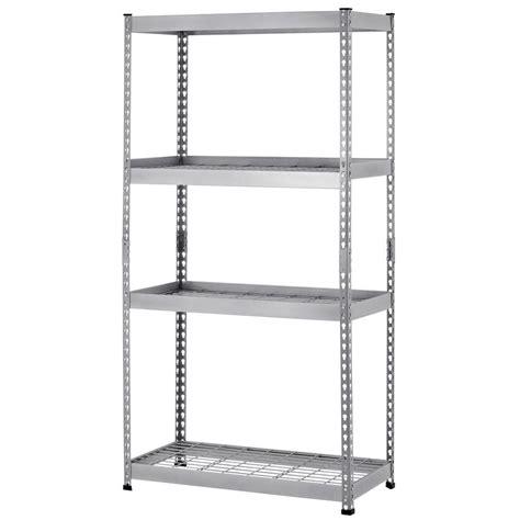 husky steel shelving husky 72 in h x 36 in w x 18 in d 4 shelf steel unit in