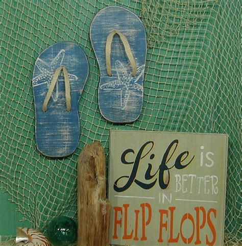 flip flop home decor pair of flip flops house decor wall by cherscottagebythesea