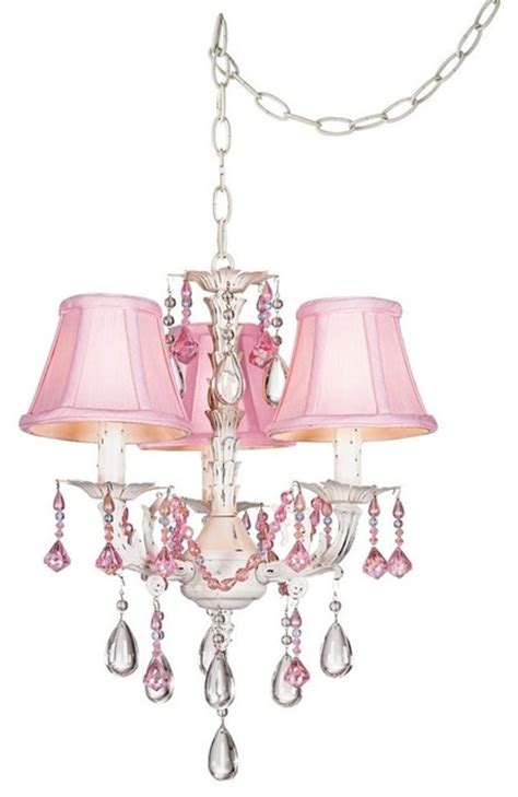 Mini Chandelier Pink Pretty In Pink Swag Style In Mini Chandelier Modern Chandeliers Dallas By Your Home