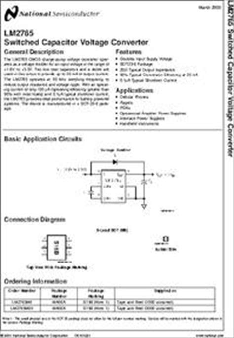 capacitor package datasheet lm2765 datasheet lm2765 switched capacitor voltage converter package