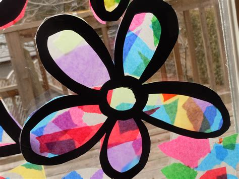Stained Glass Tissue Paper Craft - tissue paper stained glass craft s a craft project