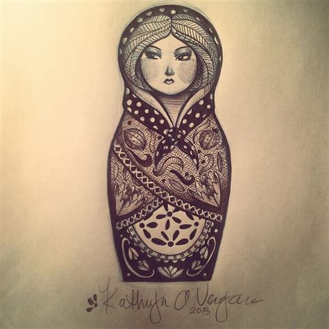11 cute matryoshka tattoo designs