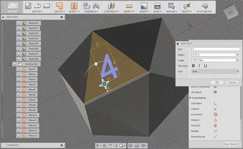 sketchbook text tool sketching in text fusion 360 s drag and rotation tools