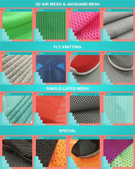different types of upholstery different types 3d spacer knitted air mesh fabric shoe