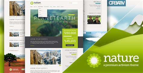 themes wordpress nature nature premium responsive wordpress theme wordpress